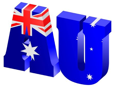 vector Internet top-level domain of Australia Stock Vector - 11752401