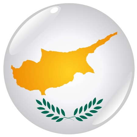 button in colours of Cyprus