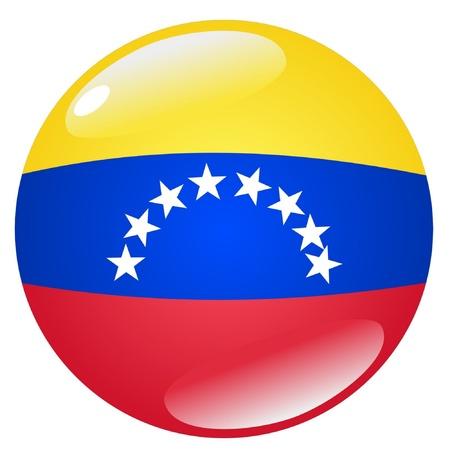 venezuela: button in colours of Venezuela