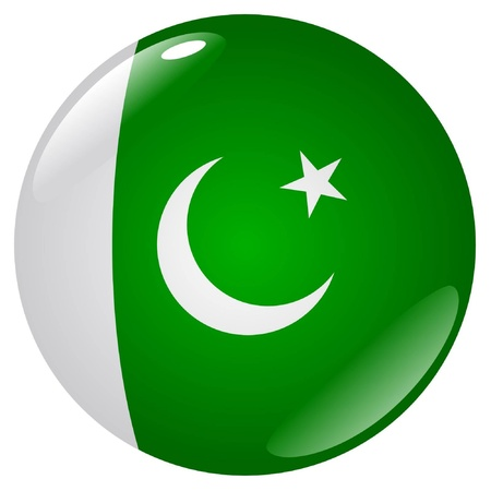 pakistan flag: button in colours of Pakistan Illustration