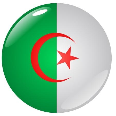 Algeria: button in colours of Algeria