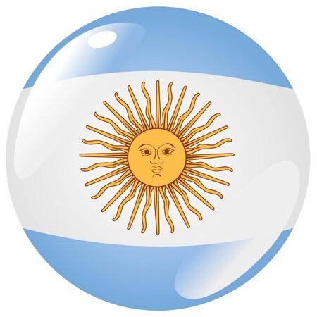 bandera argentina: botón en colores de Argentina