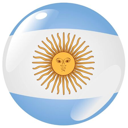 argentina flag: button in colours of Argentina