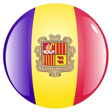 andorra: button in colours of Andorra