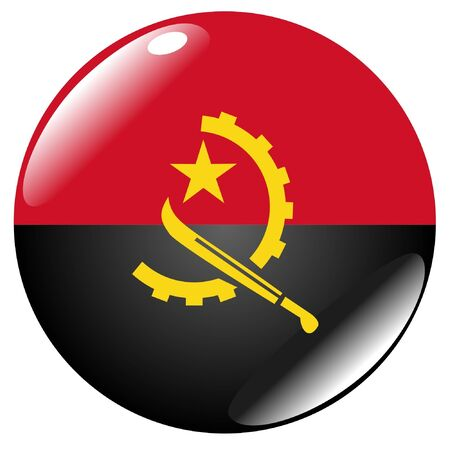 button in colours of Angola