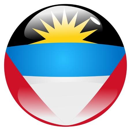 antigua: button in colours of Antigua and Barbuda