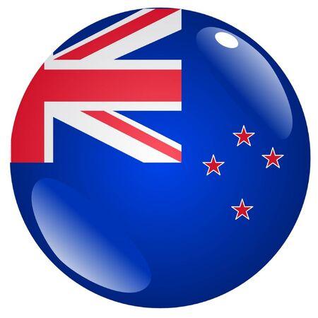 bandera de nueva zelanda: bot�n en colores de Nueva Zelanda