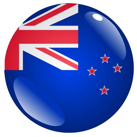 flag of new zealand: button in colours of New Zealand