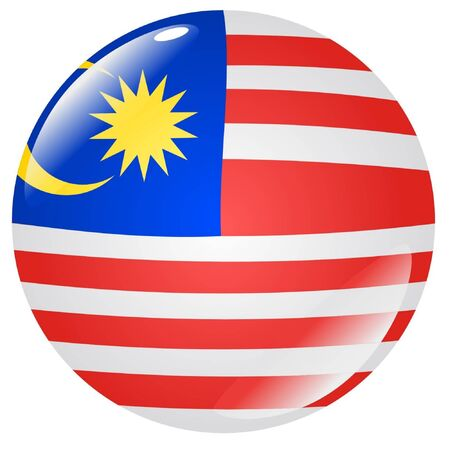 flag button: button in colours of Malaysia