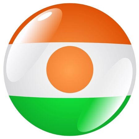 niger: button in colours of Niger Illustration