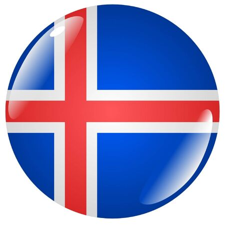 button in colours of Iceland Vector