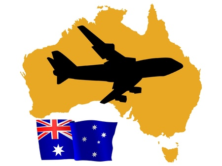 fly me to the Australia Stock Vector - 11751790