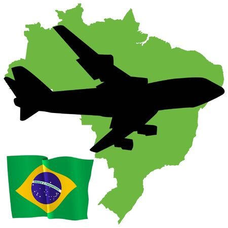 fly me to the Brazil Stock Vector - 11751787