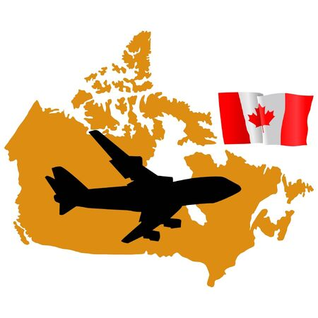 fly me to the Canada Stock Vector - 11751788
