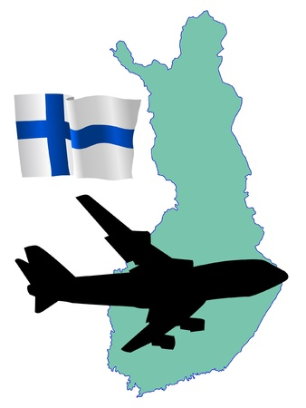 fly me to the Finland Stock Vector - 11751830