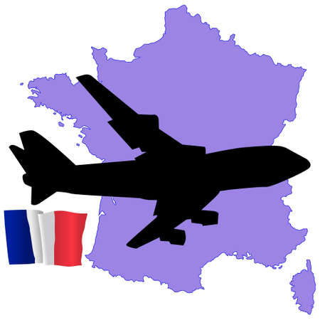 fly me to the France Stock Vector - 11751793