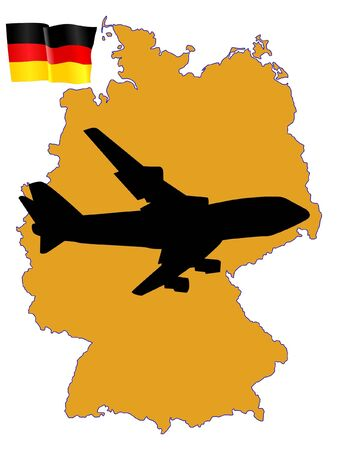 fly me to the Germany Stock Vector - 11751739