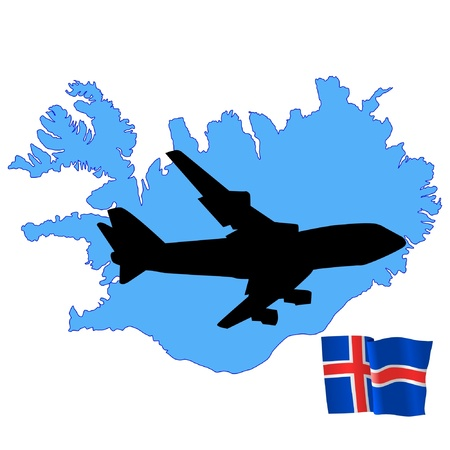 fly me to the Iceland Stock Vector - 11751736