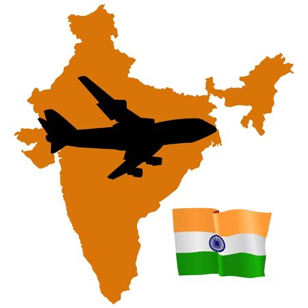 fly me to the India Stock Vector - 11751774
