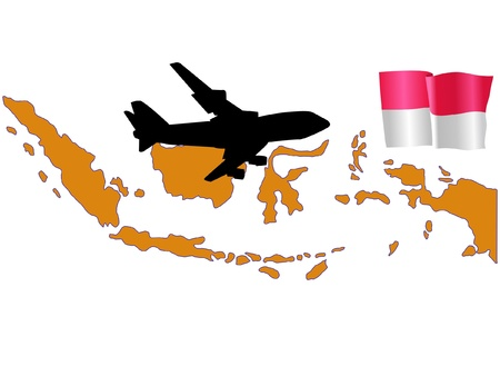 fly me to the Indonesia Stock Vector - 11751812