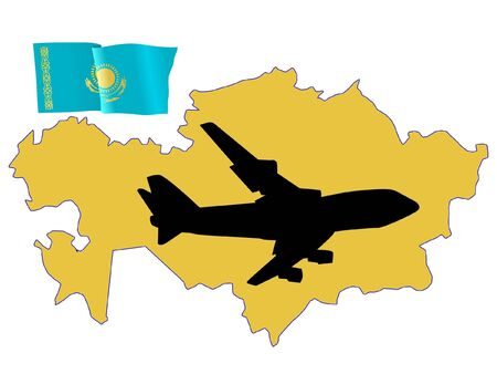 fly me to the Kazakhstan Stock Vector - 11751813
