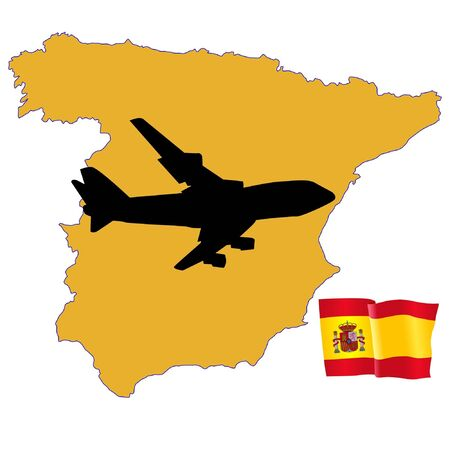 fly me to the Spain Stock Vector - 11751746