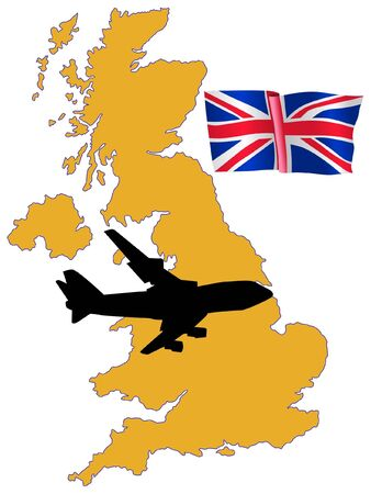 fly me to the United Kingdom Stock Vector - 11751791
