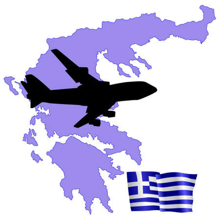 fly me to the Greece Stock Vector - 11751792