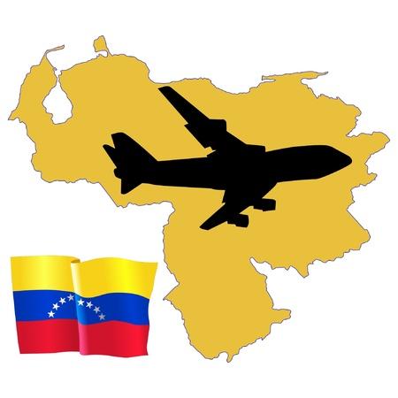 fly me to the Venezuela Stock Vector - 11751816