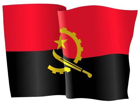 angola: flag of Angola