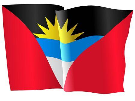 antigua: flag of Antigua and Barbuda Illustration
