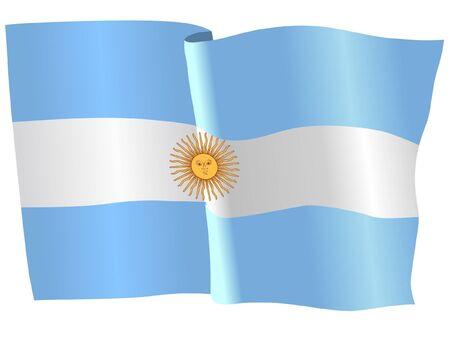 argentina flag: flag of Argentina Illustration
