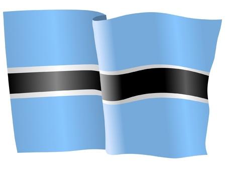 botswana: flag of Botswana Illustration
