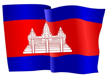cambodia: flag of Cambodia Illustration
