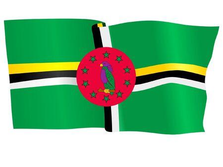 dominica: flag of Dominica