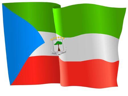 equatorial: flag of Equatorial Guinea Illustration