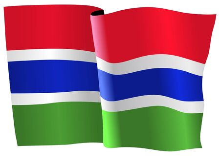 gambia: flag of Gambia