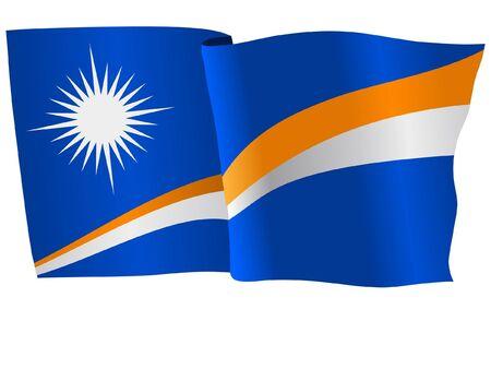 the marshal: flag of Marshal Islands