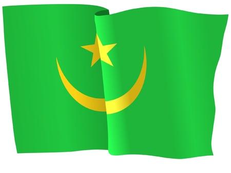 mauritania: flag of Mauritania Illustration