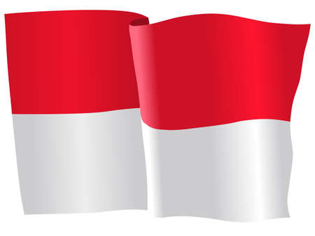 flag of Indonesia Иллюстрация