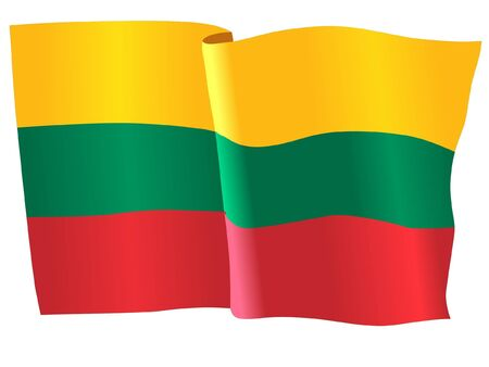 lithuania: flag of Lithuania Illustration