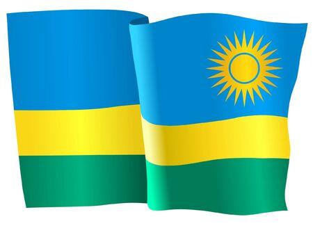 rwanda: flag of Rwanda Illustration