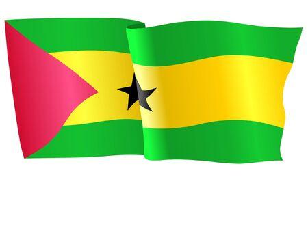 principe: bandera de Santo Tom� y Pr�ncipe Vectores