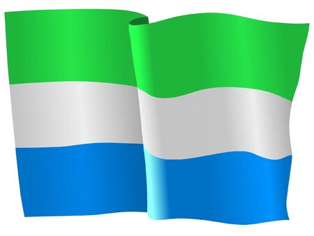 flag of Sierra Leone Stock Vector - 11751665