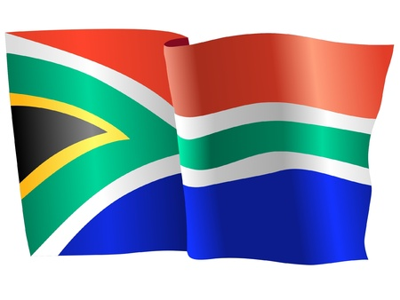 south africa: flag of South Africa