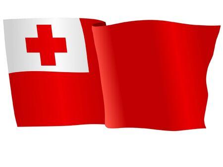 tonga: flag of Tonga