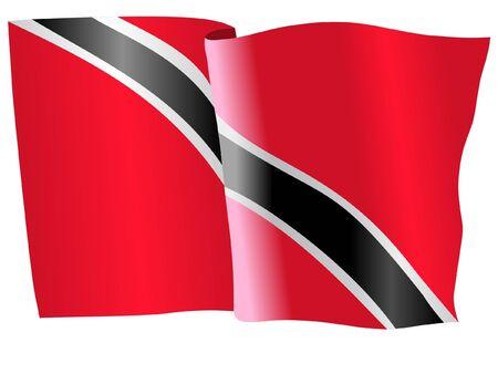 trinidad: flag of Trinidad and Tobago Illustration