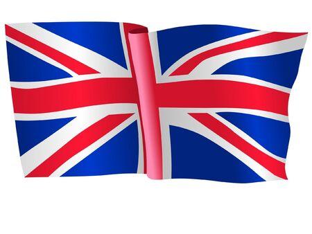 flag of UK Иллюстрация