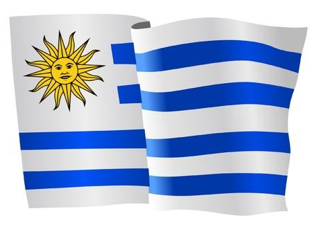 flag of Uruguay Иллюстрация