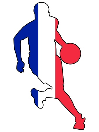 basketball colors of France Stock Vector - 11751524